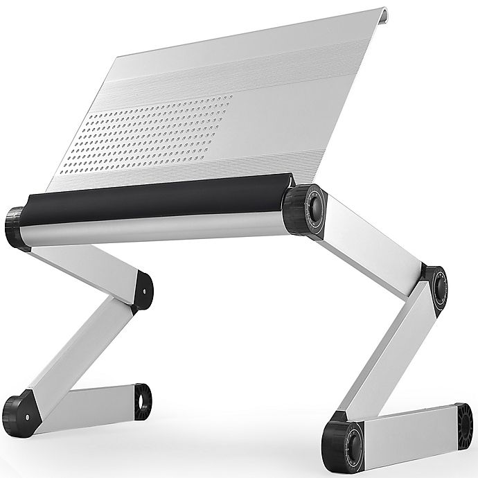 Alternate image 1 for Uncaged Ergonomics Workez Executive Adjustable Laptop/Tablet Stand