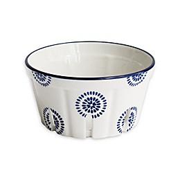 American Atelier 5-Inch Round Blue Stamp Berry Basket