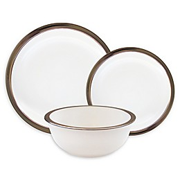 American Atelier Metallic White 12-Piece Dinnerware Set