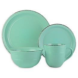 American Atelier Madelyn Seafoam 16-Piece Dinnerware Set