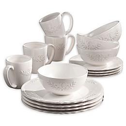 American Atelier Bianca Laurel 16-Piece Dinnerware Set