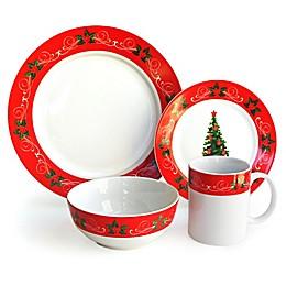 American Atelier Classic Christmas 16-Piece Dinnerware Set