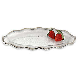 Badash Silver Edge 14-Inch Oval Platter