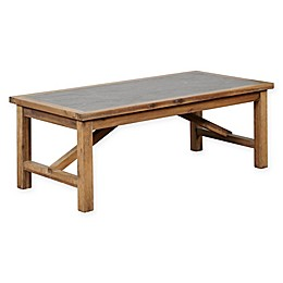 Linon Home Farrow Rustic Coffee Table in Brown