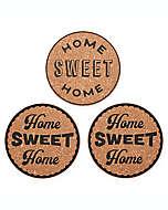 "Protectores para superficies Kamenstein con frase ""Home Sweet Home"", Set de 3"