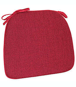 Cojín de espuma para silla Mayfair en rojo