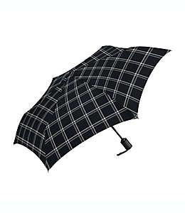 Paraguas automático Shedrain® compacto en negro/blanco