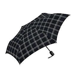 ShedRain Automatic Open Compact Umbrella in Black/White