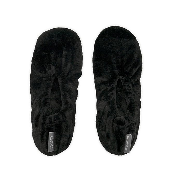 Alternate image 1 for Brookstone® One Size Ultra Plush Footies in Black