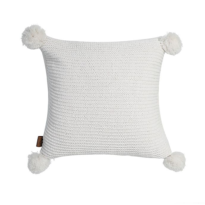 Alternate image 1 for UGG® Cameron Square Throw Pillow in Snow