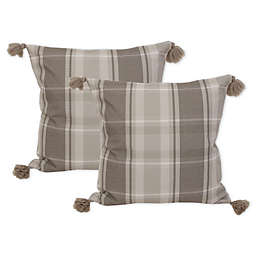 Brent 20-Inch Square Throw Pillows in Grey (Set of 2)