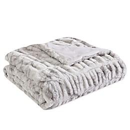 Morgan Home Faux Rabbit Fur Reversible Throw Blanket