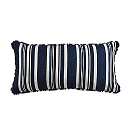 One Kings Lane Open House™ Alana Lumbar Throw Pillow in Blue