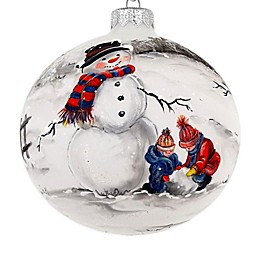 Badash Hand-Painted Snowman 4-Inch Christmas Glass Ornament