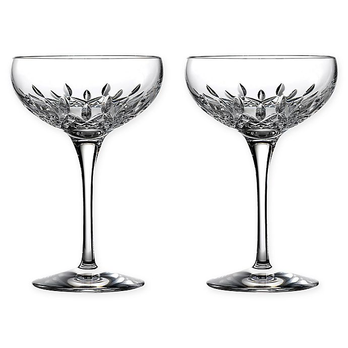 Alternate image 1 for Waterford® Lismore Essence Saucer Champagne Glasses (Set of 2)