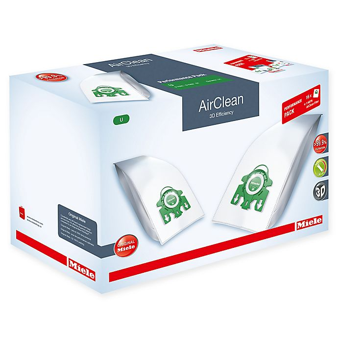 Alternate image 1 for Miele 17-Piece 3D Efficiency AirClean SF-HA30 Type U Performance Bag and HEPA Filter Pack