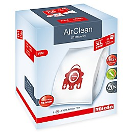 Miele 9-Piece 3D Efficiency AirClean Allergy XL Type FJM Bag and HEPA Filter Pack