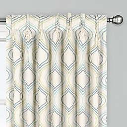 Albers Pinch Pleat Room Darkening Window Curtain Panel (Single)