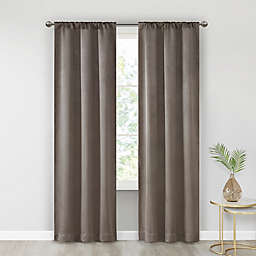 SALT™ Alberta 2-Pack 84-Inch Rod Pocket Room Darkening Window Curtain Panels in Taupe