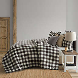 Bee & Willow™ Home Buffalo Check Flannel King Duvet Cover Set in Black
