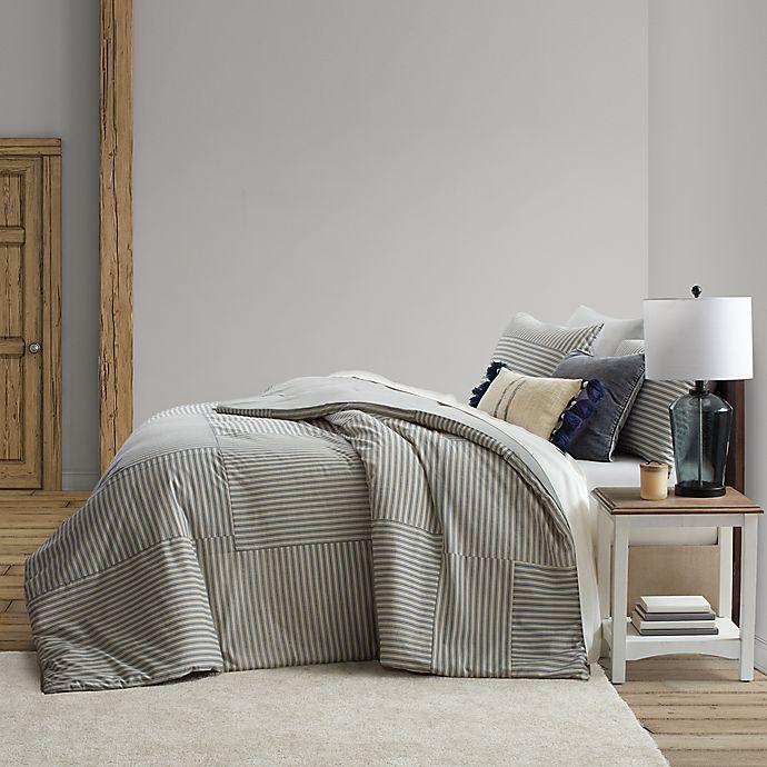 Alternate image 1 for Bee & Willow™ Home Ticking Stripe Reversible Duvet Cover Set