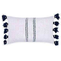 Bee & Willow™ Home Ticking Stripe Woven Oblong Throw Pillow in Natural/Blue