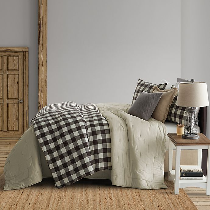 Alternate image 1 for Bee & Willow™ Home Mini Check Full/Queen Coverlet in Cream