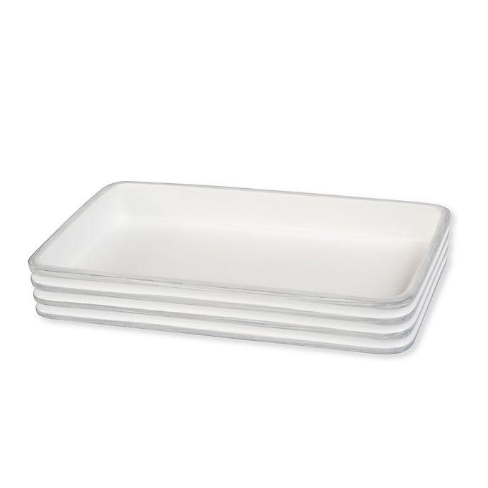 Alternate image 1 for Bruges Guest Towel Holder in White/Grey