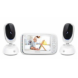 Motorola® 5-Inch Video Baby Monitor with 2 Cameras and Remote Pan Scan