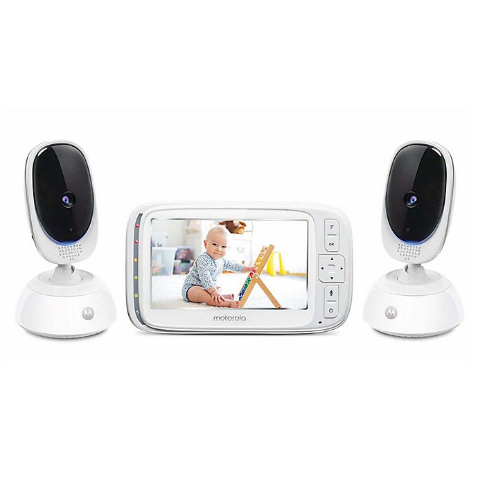 Alternate image 1 for Motorola® COMFORT75-2 5-Inch Video Baby Monitor with 2 Cameras and Remote Pan Scan