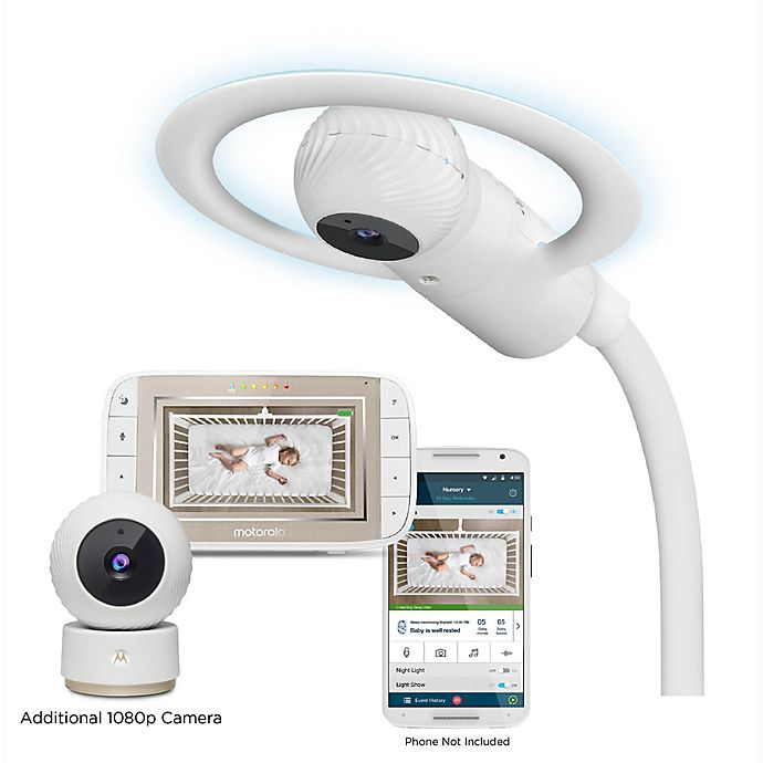 Alternate image 1 for Motorola® Halo+ Over the Criib Deluxe Wi-Fi Baby Monitor 2 Camera Set