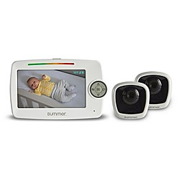 Summer Infant LookOut 5-Inch Color Video Baby Monitor with 2 Cameras