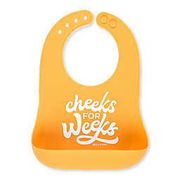"Bella Tunno ""Cheeks for Weeks"" Wonder Bib in Yellow"