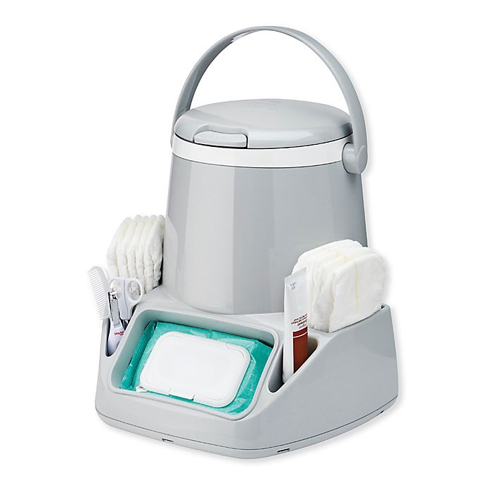 Alternate image 1 for Diaper Genie Caddy with Refill Cartridge in Grey