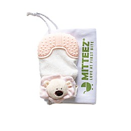 Mitteez Ultimate Organic Cotton Baby Teething Mitty in Pea Bear