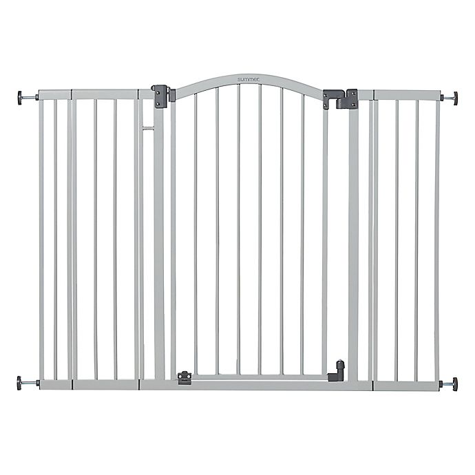 Alternate image 1 for Summer™ Extra-Tall and Wide Safety Gate in Grey