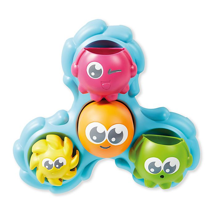 Alternate image 1 for TOOMIES® Spin and Splash Octopals Bath Toy in Blue