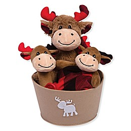 Trend Lab® 4-Piece Buffalo Check Moose Gift Set