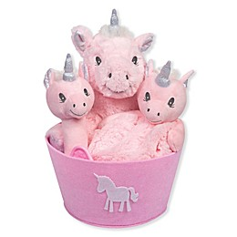 Trend Lab® 4-Piece Unicorn Gift Set in Pink/Silver