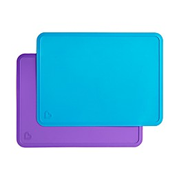 Munchkin® 2-Pack Tray Placemats in Blue/Purple