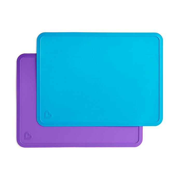 Alternate image 1 for Munchkin® 2-Pack Tray Placemats in Blue/Purple