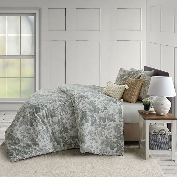 Alternate image 1 for Bee & Willow™ Home Harvest Floral 3-Piece King Comforter Set in Sage