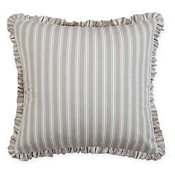Carlie 20-Inch Square Throw Pillows in Grey/Cream (Set of 2)