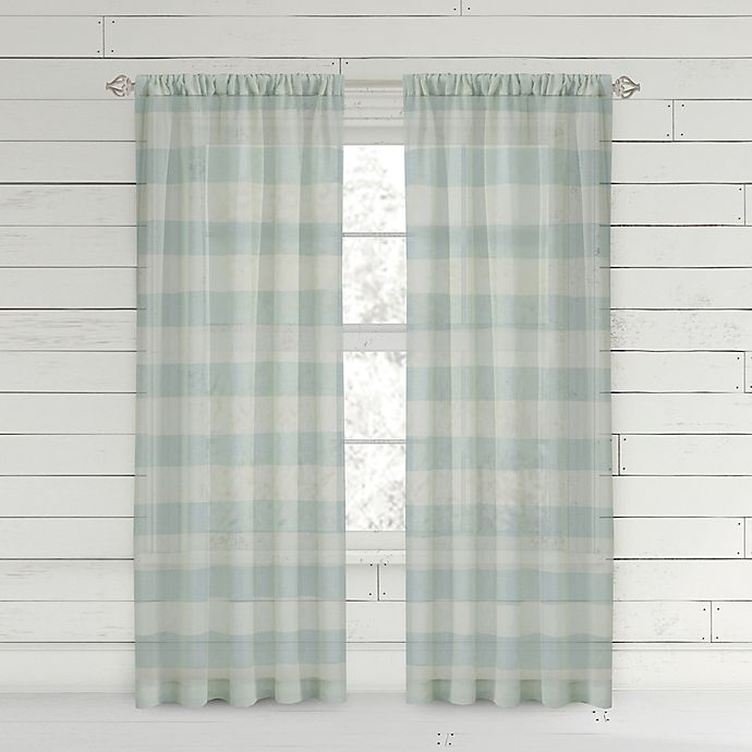 Alternate image 1 for Bee & Willow™ Home Buffalo Check Rod Pocket Window Curtain Panel
