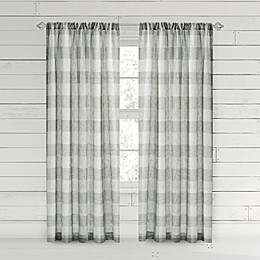 Bee & Willow™ Home Buffalo Check Rod Pocket Window Curtain Panel