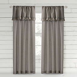 Bee & Willow™ Home Ruffle 95-Inch Rod Pocket Window Curtain Panel in Charcoal