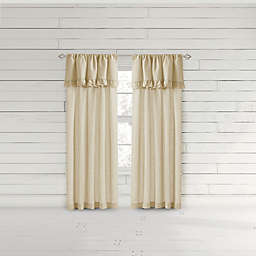 Bee & Willow™ Home Ruffle 95-Inch Rod Pocket Window Curtain Panel in Coconut Milk