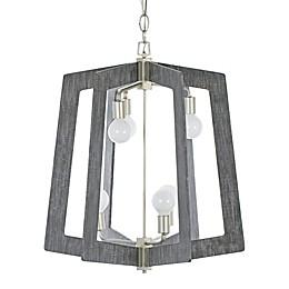 Varaluz Lofty 6-Light Chandelier in Silverado/Grey Wood