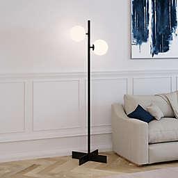 Hudson&Canal Twee 2-Light Floor Lamp in Blackened Bronze