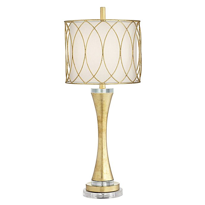 Trevizo Curvy Table Lamp In Gold Leaf